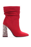 VIKA ULTIMATE BADDIE HEELED BOOTIES-RED