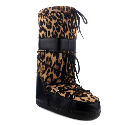 Cape Robbin | Run Away Snow Round Toe Mid Calf Lace Up Cushioned Boots
