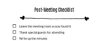 Post-meeting checklist