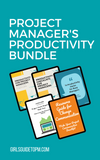 Productivity bundle, templates, checklists for project managers