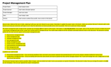 project plan template sample