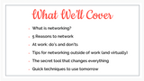 Networking: How to Do It