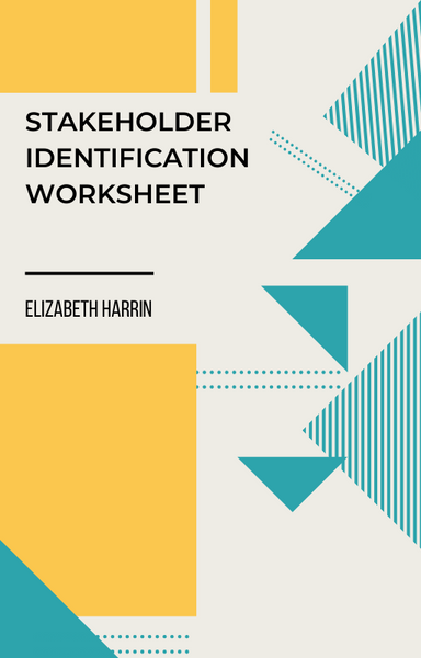 stakeholder identification worksheet