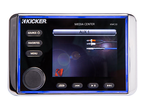 KMC10 ALL-IN-ONE MARINE MEDIA CENTER W/ BLUETOOTH