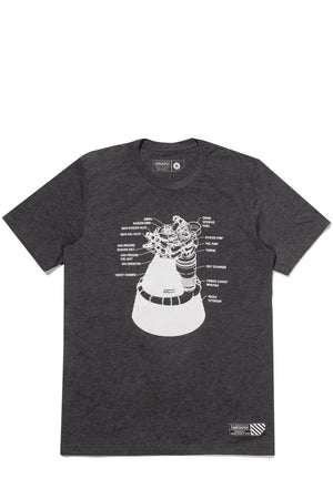 F-1 Engine Schematics Tee