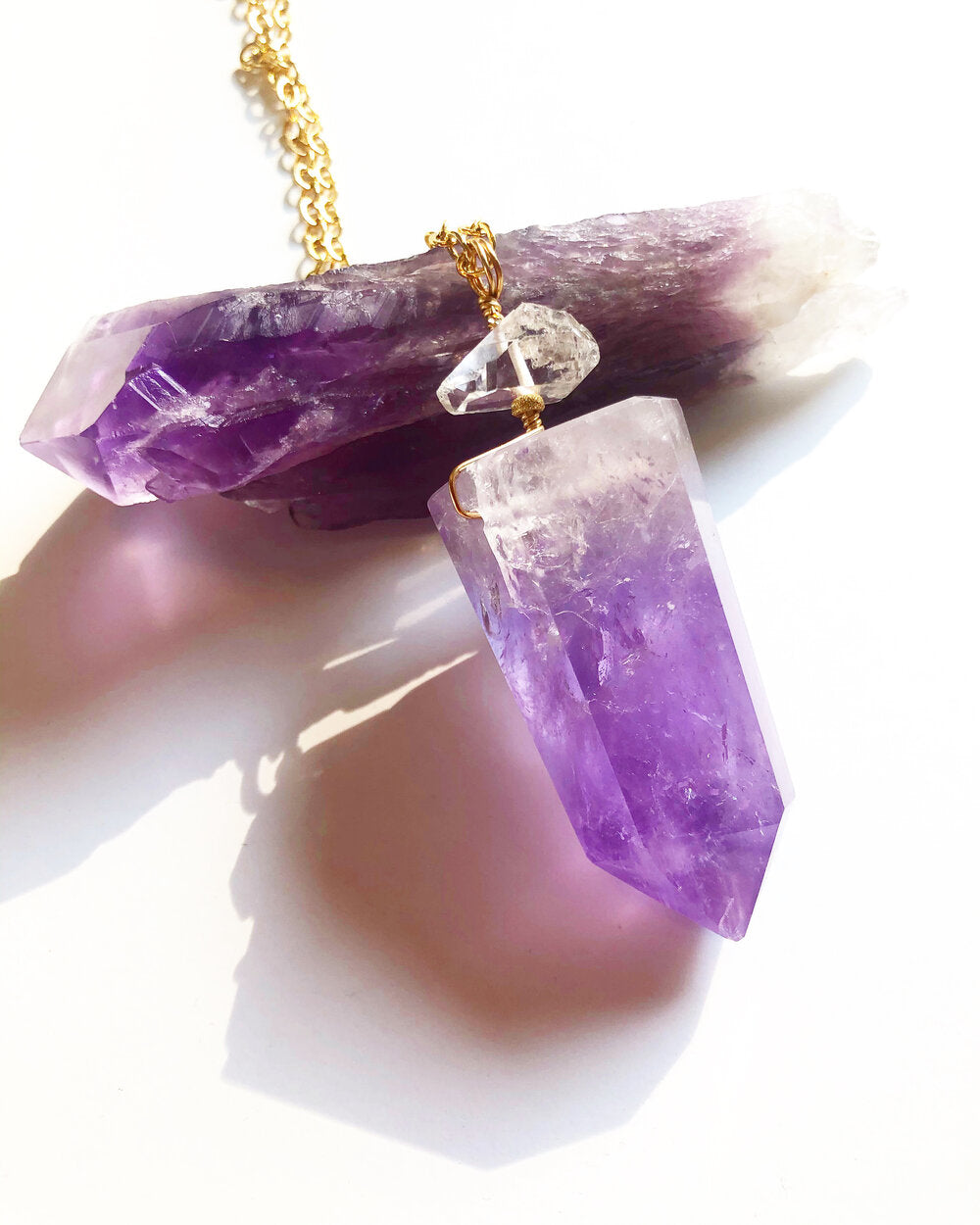 Temple Necklace: Amethyst