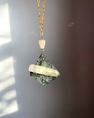 Druzy Calcite Tablet Piece