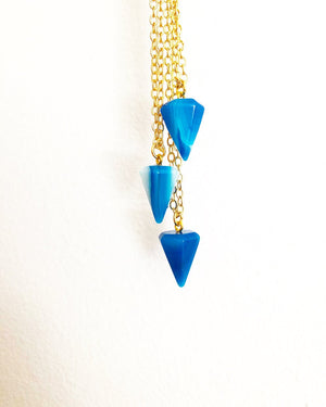 Limited Edition 1/2 Pound Blue Onyx Pendulum