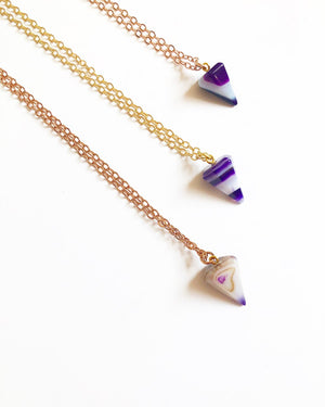 Limited Edition 1/2 Pound Purple Agate Pendulum