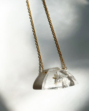 Manifestor Quartz Necklace with Temple Shape