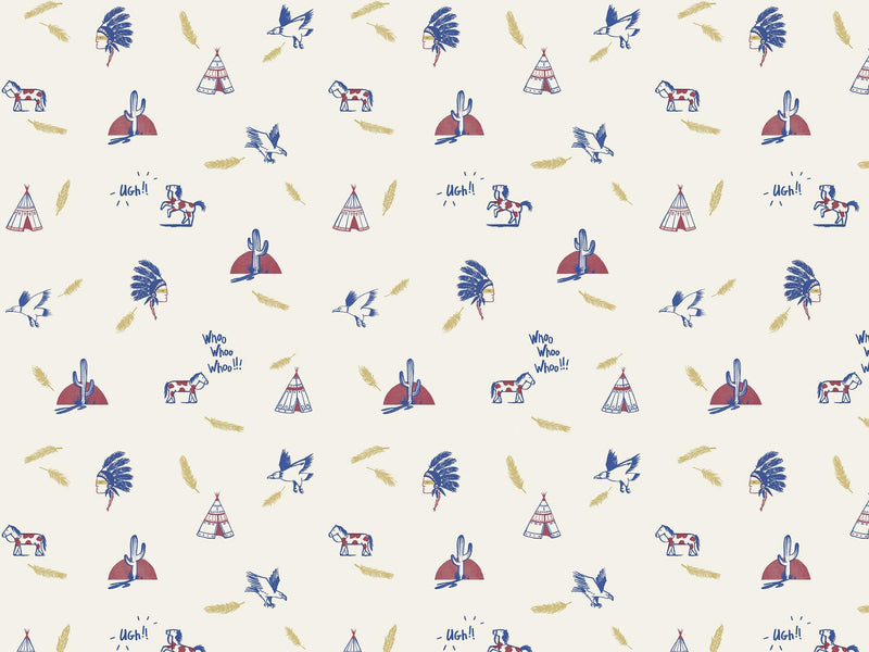 Geronimo - Red & Blue - grand motif