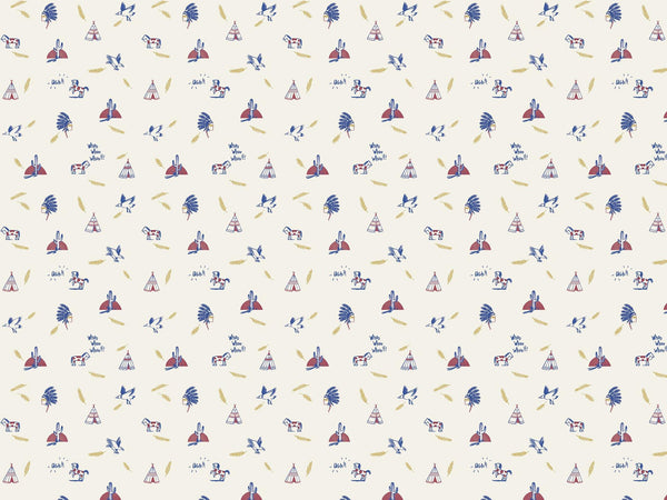 Geronimo - Red & Blue - petit motif