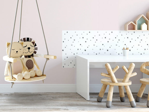 Little stars - Black & White - petit motif
