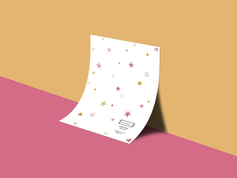 Little stars - Pink & Gold - grand motif