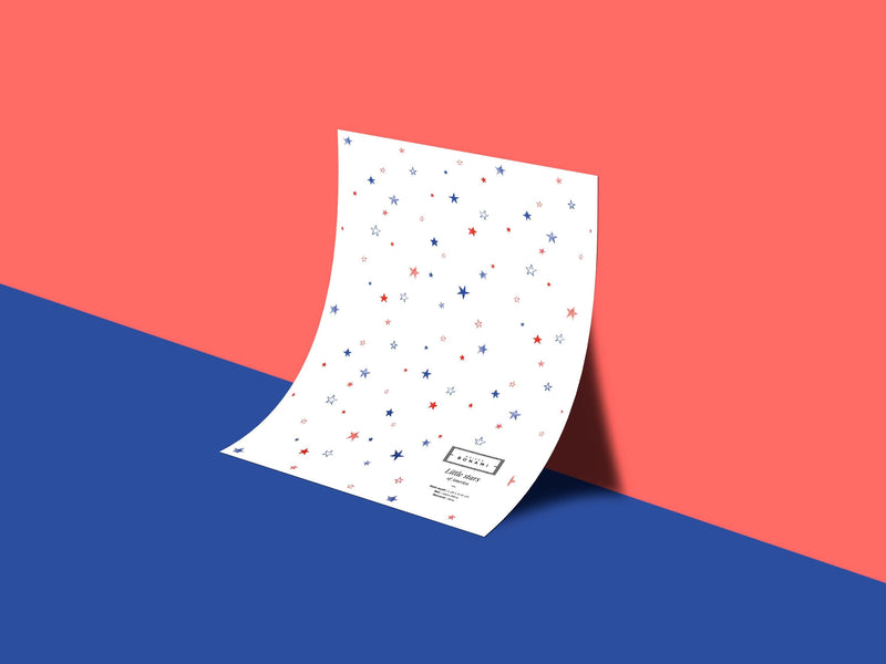 Little stars - Red & Blue - petit motif