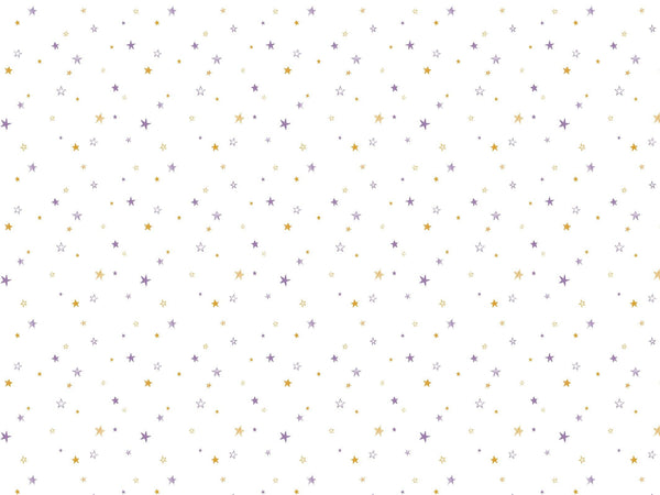 Little stars - Purple & Gold - petit motif - Maison BONAMI