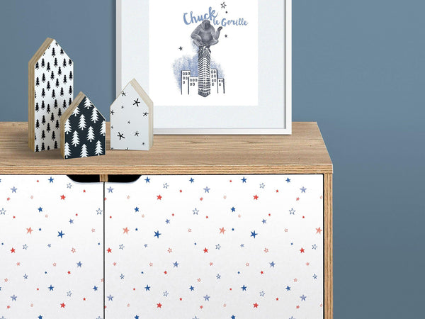 Little stars - Red & Blue - petit motif - Maison BONAMI