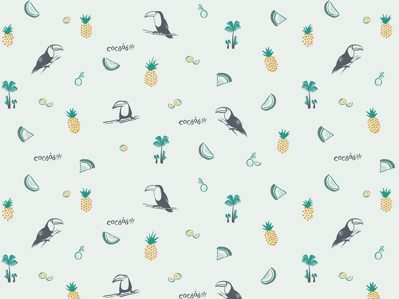 Toco le Toucan - Green & Yellow - grand motif