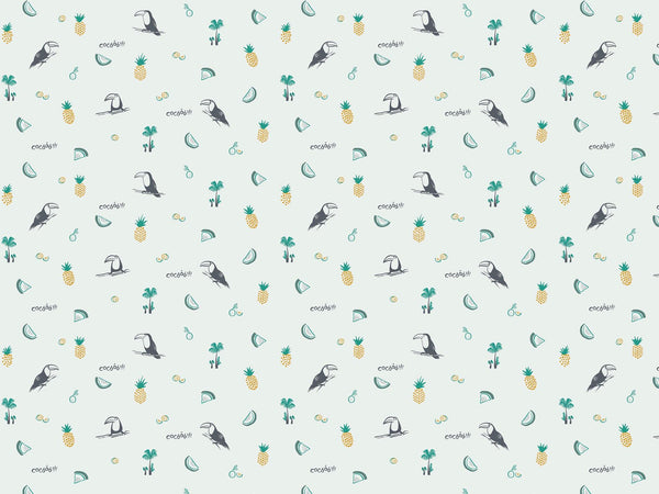 Toco le Toucan - Green & Yellow - petit motif
