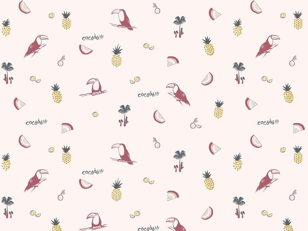 Toco le Toucan - Pink & Yellow - grand motif