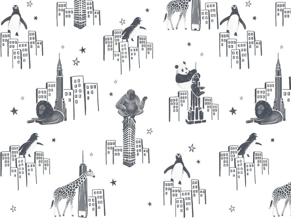 Zoo of New York - Black & White - grand motif