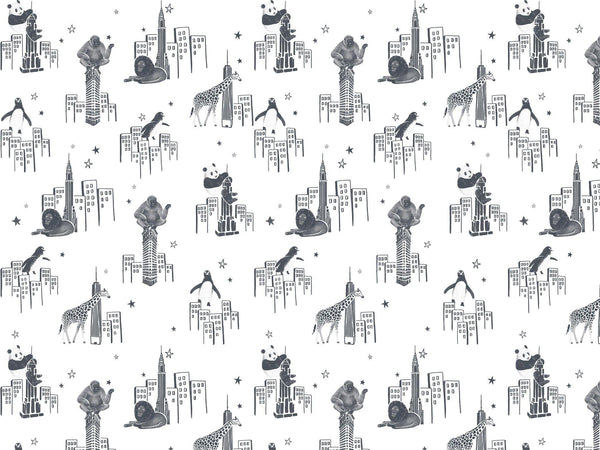 Zoo of New York - Black & White - petit motif