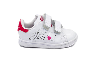 ADIDAS Stan Smith Velcro Rose Bébé