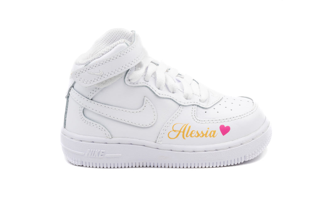 NIKE Air force one MID Blanche Bébé