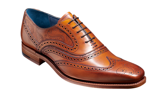 McClean - Antique Rosewood Paisley Mens Brogue Shoe