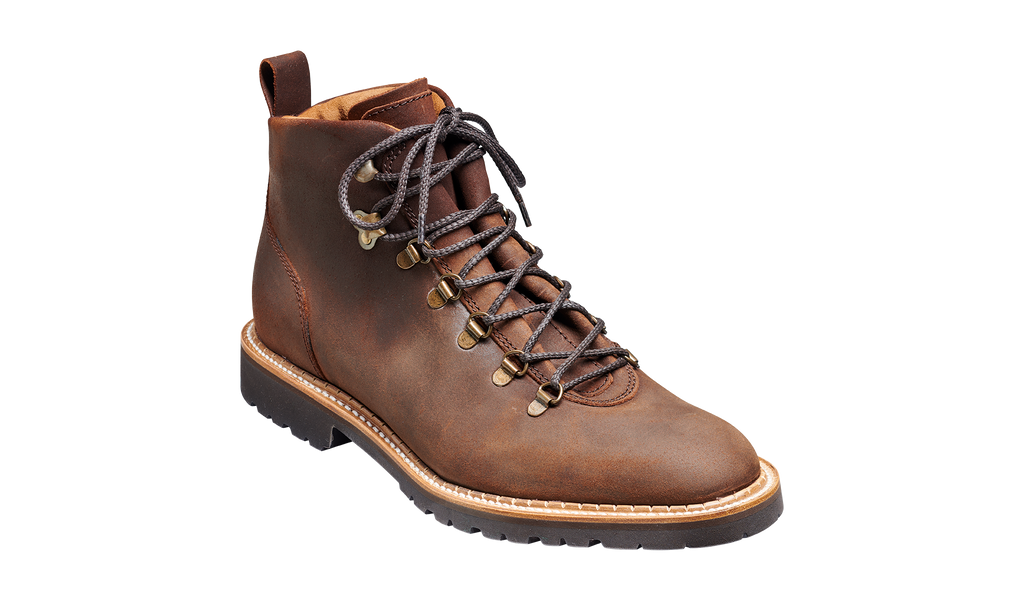 Glencoe - Mid Brown Waxy Suede Mens Hiking Boot
