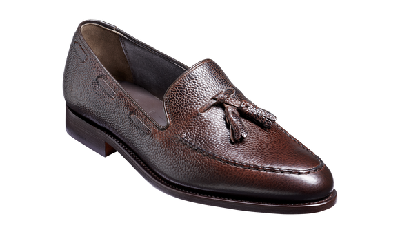 Newborough - Dark Brown Grain Loafer Shoe