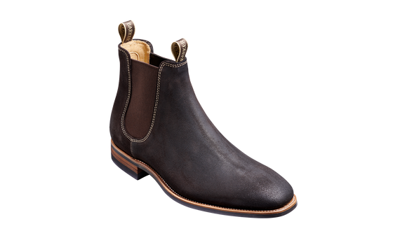 Mansfield - Choc Burnish Suede Chelsea Boot