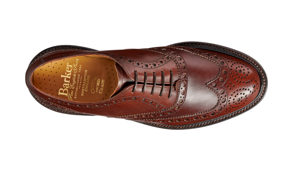 Charles - Brown Fine Grain Hand Stitched Brogue