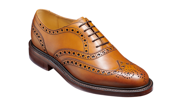 Charles - Cedar Fine Grain -  Brogue Shoe