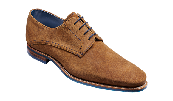 Max - Tan Burnished Suede Derby Shoe