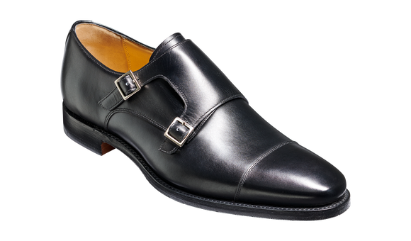 Edison - Black Calf - Monk Strap Shoe