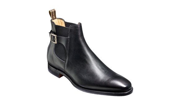 Sergey - Black Calf Leather Boot
