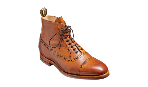 Foley - Tan Soft Grain Mens Toe Cap Boot