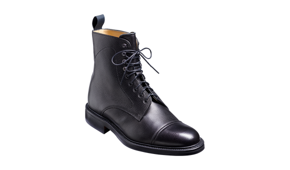 Donegal - Black Grain - Mens Top-cap Boot