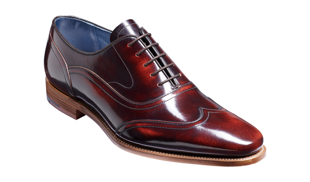 Arron - Brandy Hi Shine Oxford Brogue Shoe