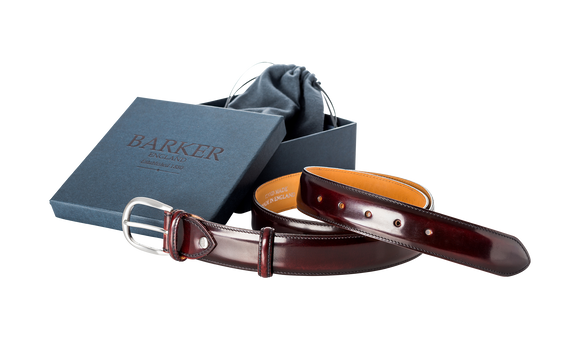 Plain Belt - Burgundy Hi-Shine