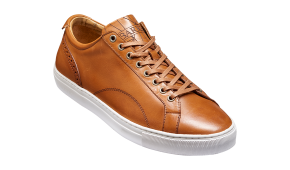 Axel - Cedar Calf Sneaker Rubber Sole Shoe