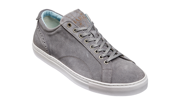 Axel - Grey Suede Sneaker - Rubber Sole Shoe