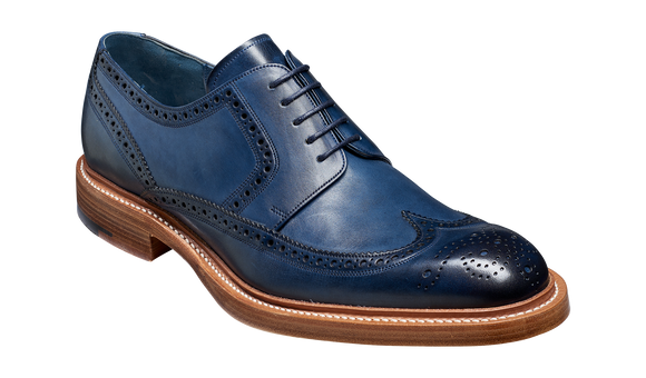 Bailey - Navy Hand Painted - Wingtip Derby Shoe