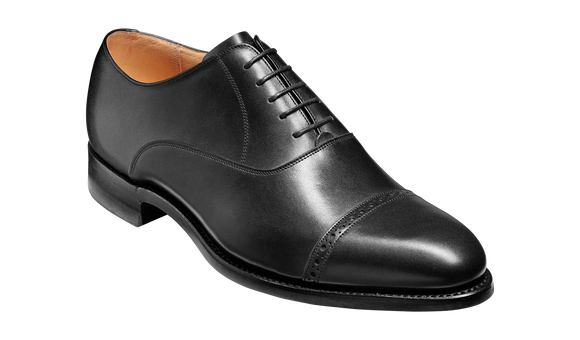 Burford - Black Calf Oxford handcrafted Shoe