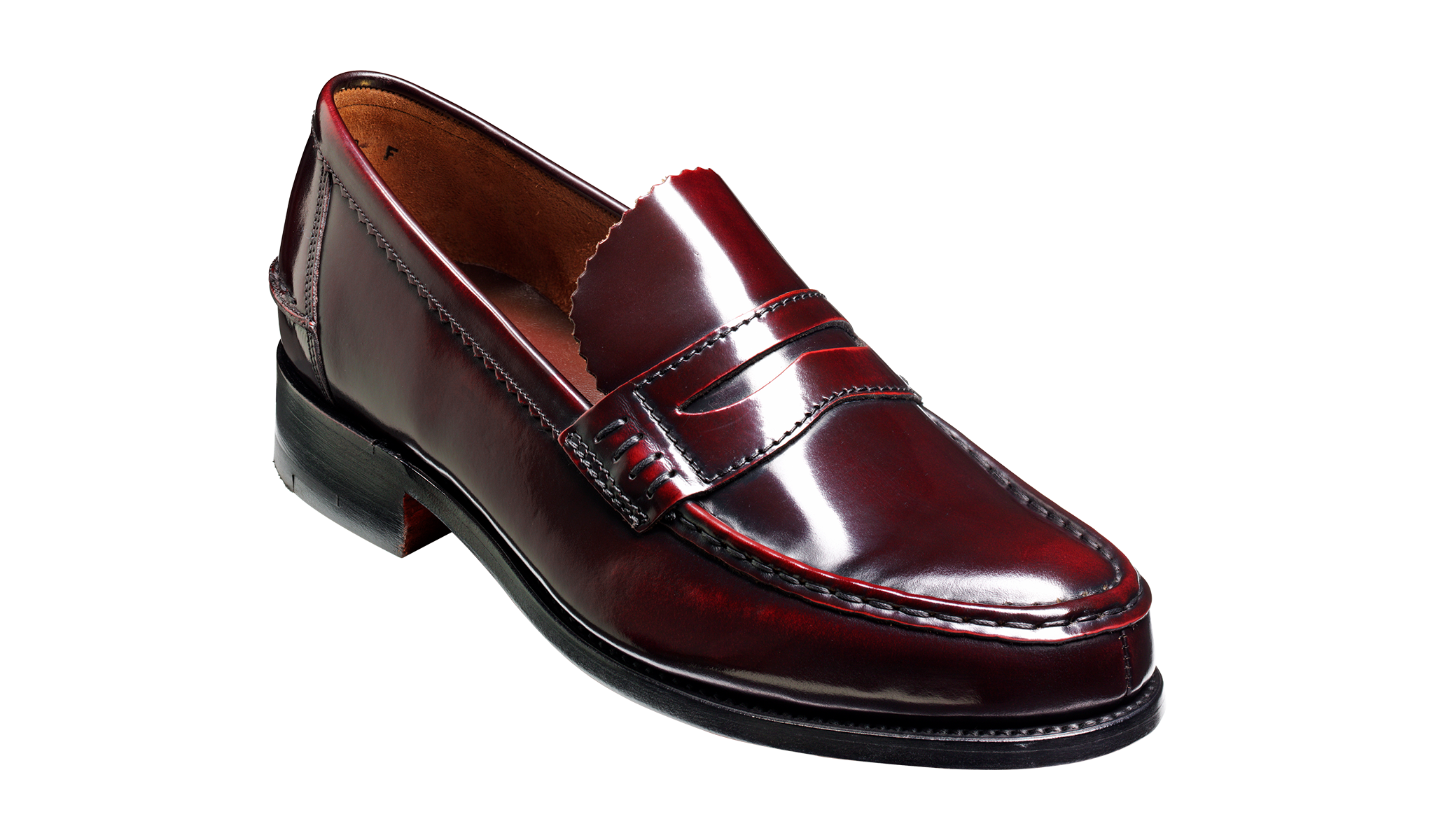 Caruso - Burgundy Hi-Shine - Penny Loafer Shoe | Barker ...