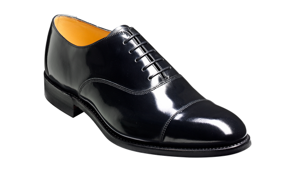 Cheltenham - Black Hi-Shine - Oxford Shoe Mens