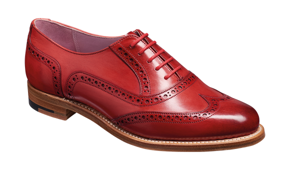 Fearne - Red Hand Painted Womens brogue Shoe