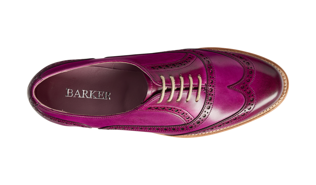Fearne - Purple Hand Painted - Ladies Brogue Shoe