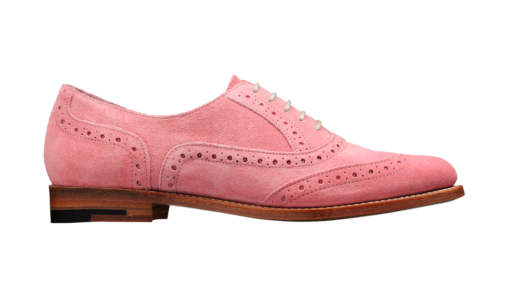 Freya - Pink Suede Women Brogue Shoe